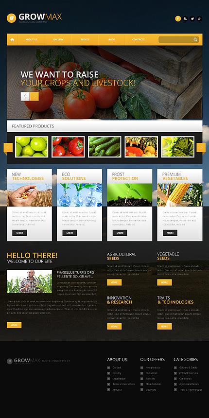 Farming Industry WordPress Theme