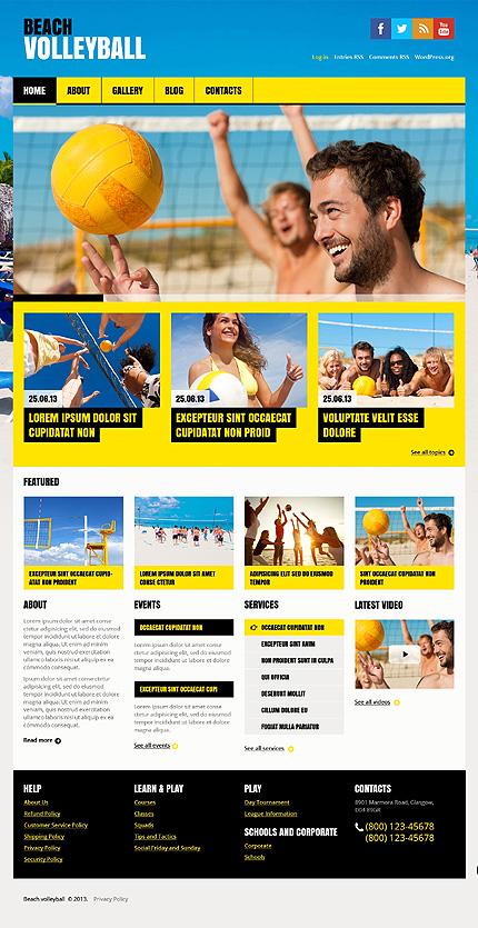 Volleyball WordPress Theme