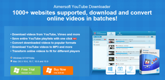 Aimersoft YouTube Downloader Download and Convert Online Video OFFICIAL