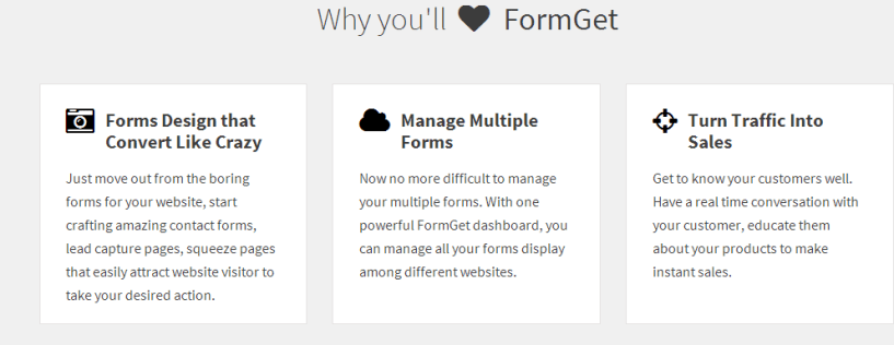 FormGet   Features