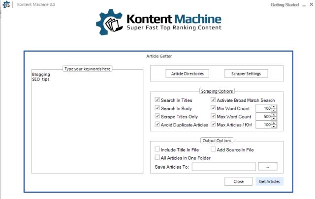 Kontent Machine 3 article getter
