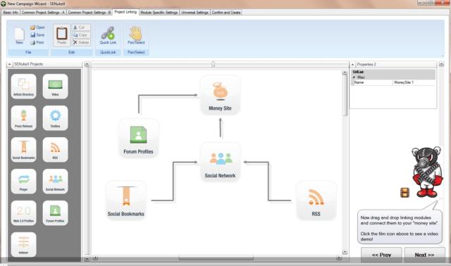 Senuke XCR Promotion Strategy Mapper