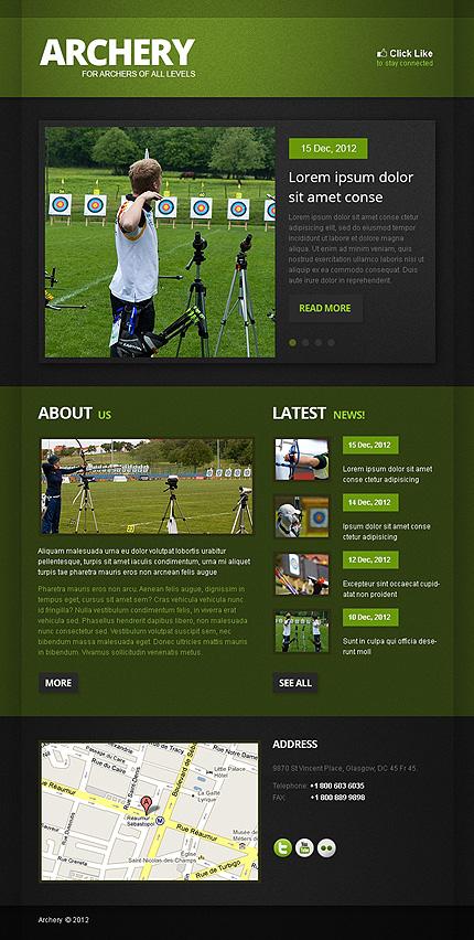 Archery Facebook Template