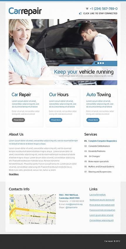 Car Repair Facebook Template