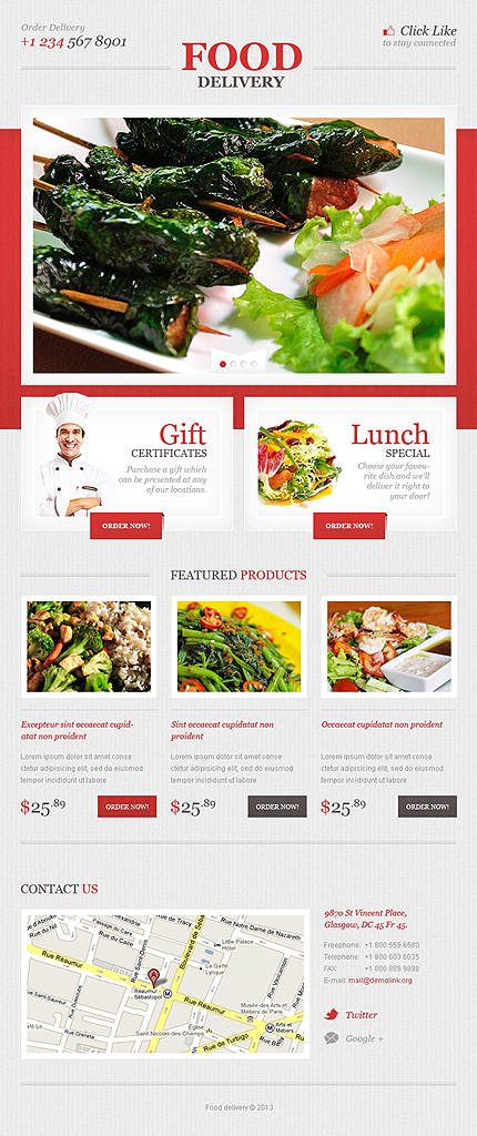 Delivery Services Facebook Template