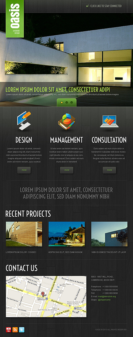 Exterior Design Facebook Template