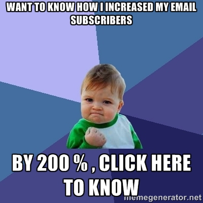 How I Increased My E-mail Subscription Rate