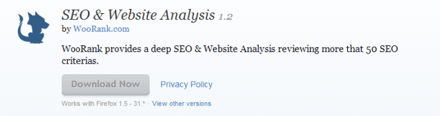 SEO   Website Analysis    Add ons for Firefox