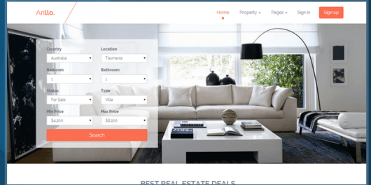 Arillo Responsive Real Estate Theme HTML Bootstrap Template BootstrapBay