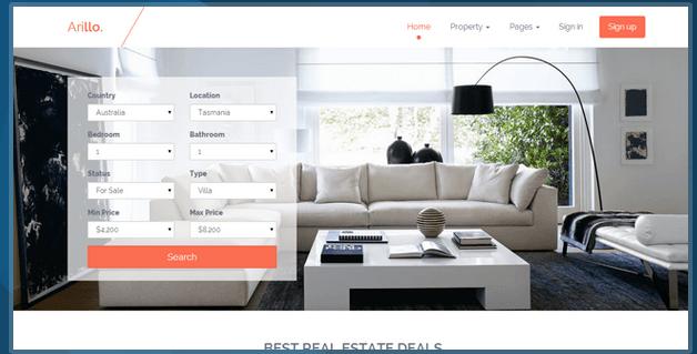 Arillo Responsive Real Estate Theme HTML Bootstrap Template BootstrapBay