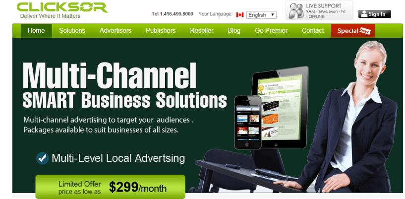 Clicksor Contextual Advertising Behavioral Marketing - Best AdSense Alternative