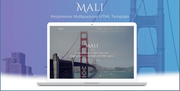 Mali Responsive Multipurpose Template HTML Bootstrap Template BootstrapBay
