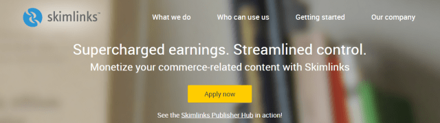 Skimlinks Affiliate marketing made easy