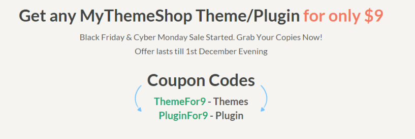 Black Friday Cyber Monday Sale MyThemeShop