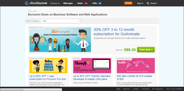 cloudswave business software deals