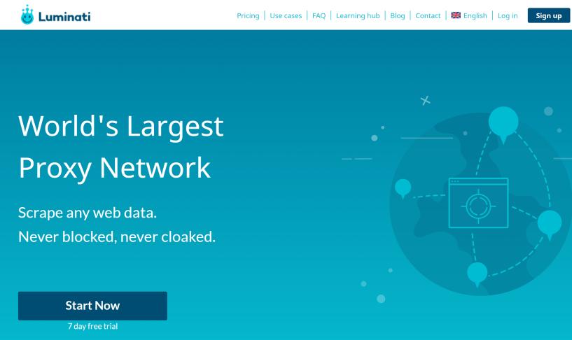 Luminati Proxy network- Best P2P Proxy