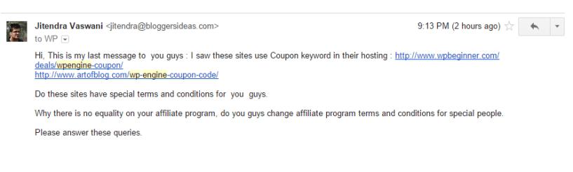wpengine fraud affiliate program