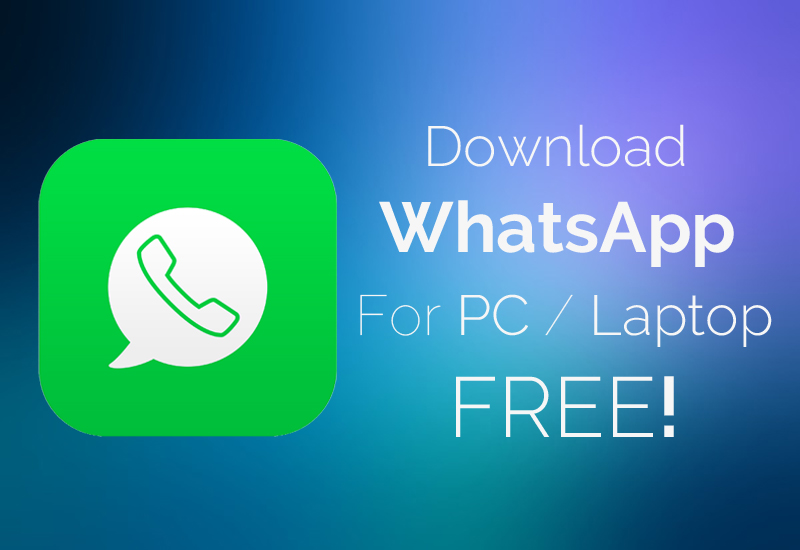 Download whatsapp for pc/laptop para windows xp/7/8. 1.
