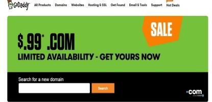 Godaddy Domain promo code coupon
