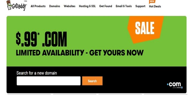 Godaddy coupon code 2018