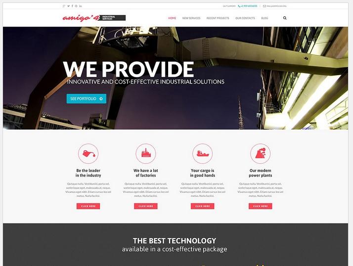 Industrial Business WordPress Website