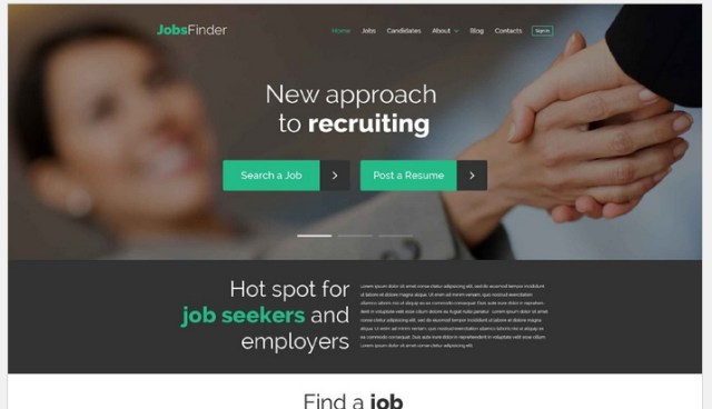 Job Recruiting WordPress Site