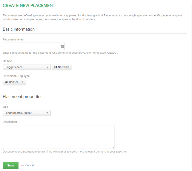 RevenueHits Console create banners