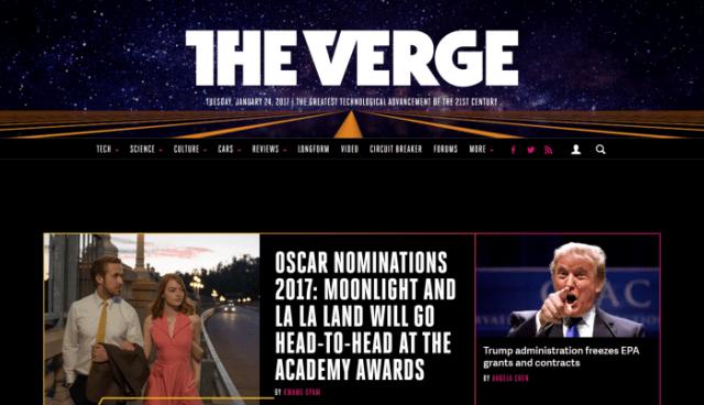 The Verge - Best Tech Websites
