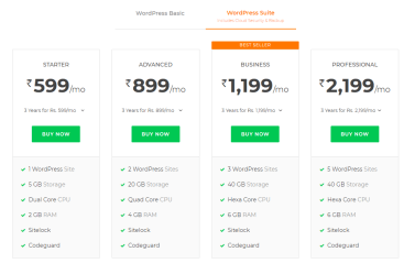 bigrock coupons- wordpress hosting
