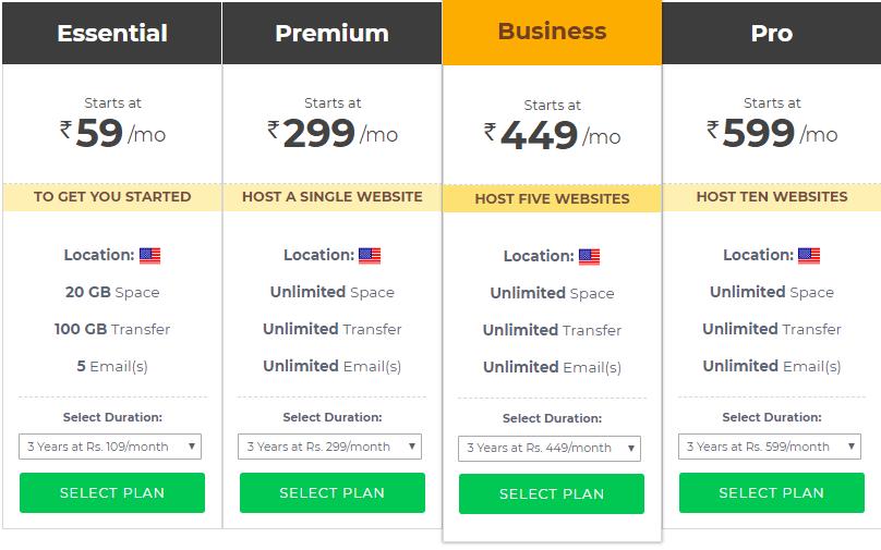 discoun t on bigrock- shared hosting