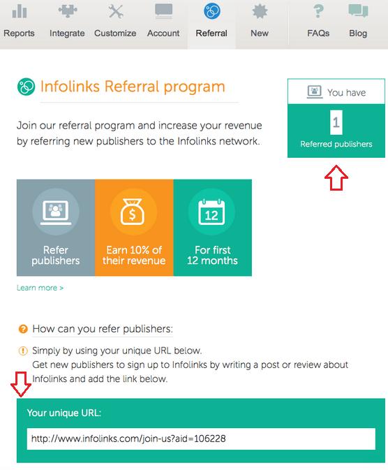 Infolinks referral program