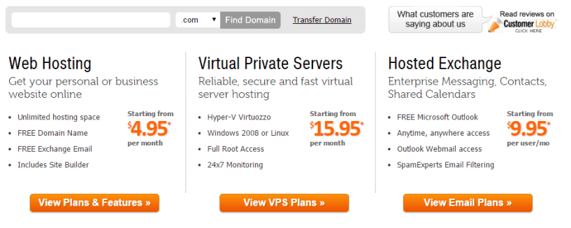 VPS Hosting Virtual Servers Hosted Exchange myhosting hosting plans