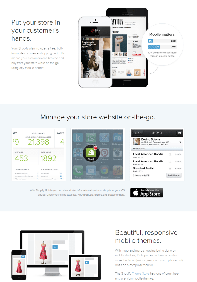 Shopify Mobile Friendly Website Builder Responsive Designs