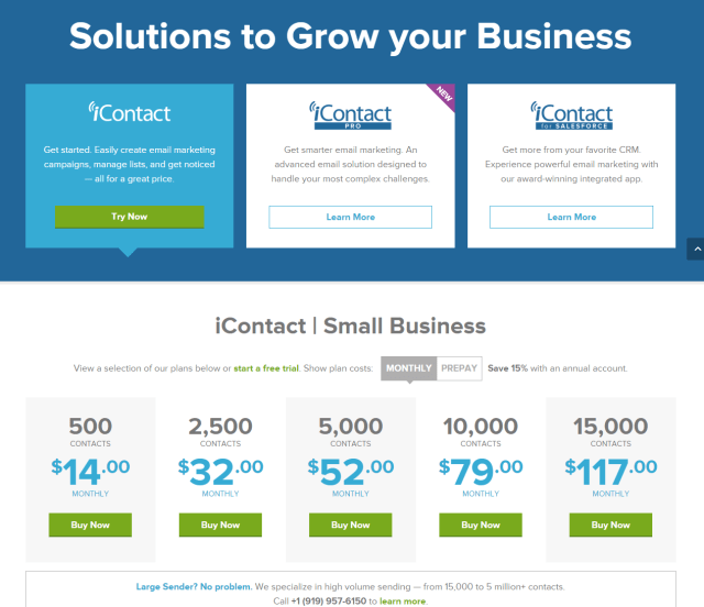 iContact Pricing - Email Marketing Provider