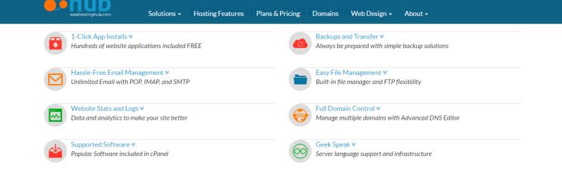 web hosting hub- cPanel