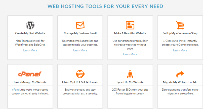 web hosting hub- tools