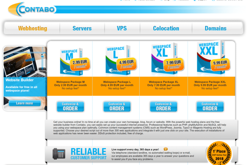 Contabo Hosting offers