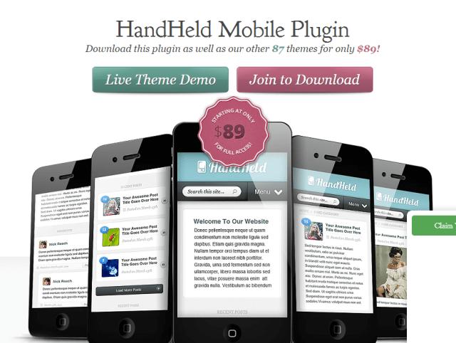 Elegant themes HandHeld Mobile Plugin