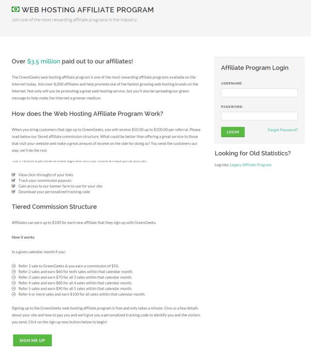 GreenGeeks Web Hosting Affiliate Program