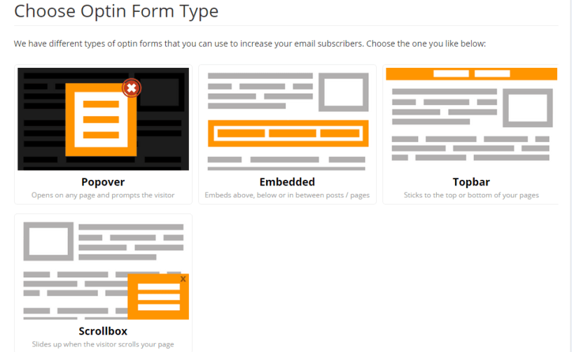 Optin Forms on MailMunch
