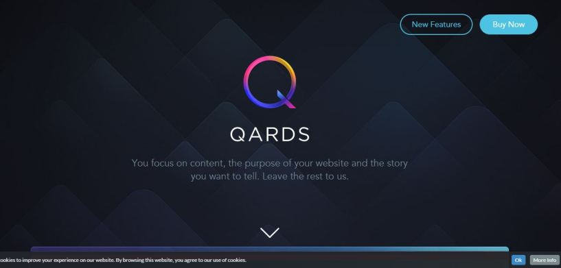 Qards review homepage