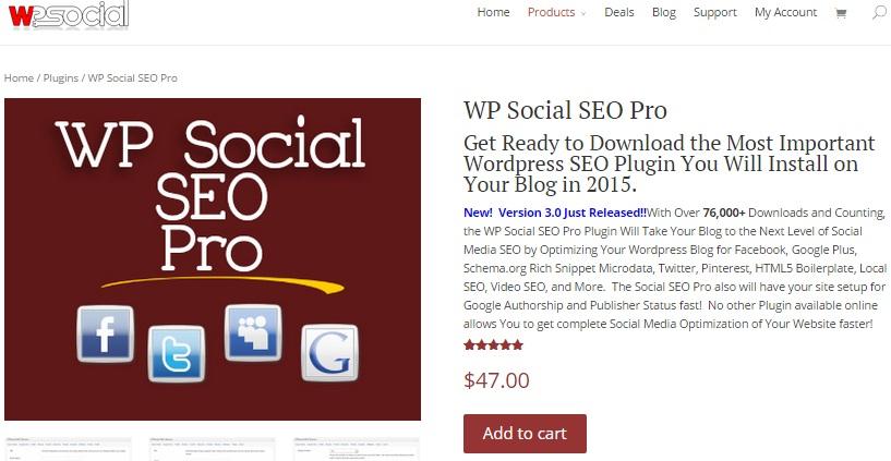 WP social seo review pro