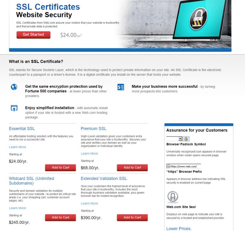 Web.com SSL Certificate