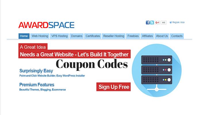 AwardSpace coupon codes promo codes discount codes