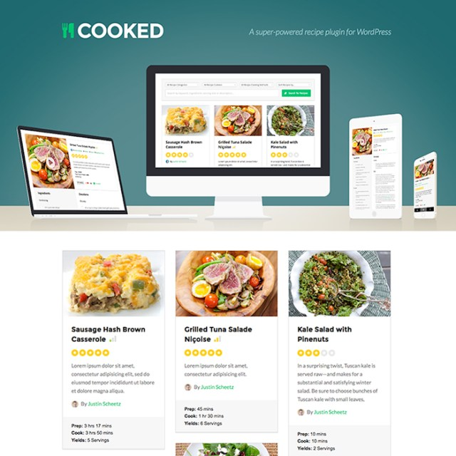 Cooked wordpress plugin