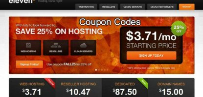 Eleven2 Webhosting coupon codes discount codes promo codes