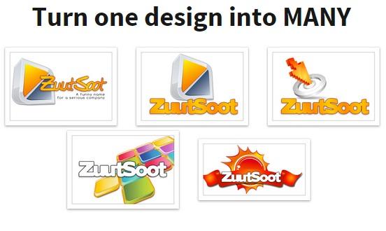 The logo creator sample