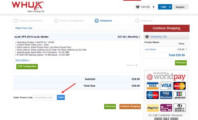 WEBHOSTING UK Discount Code - COM LIMITED coupon code Shopping Cart