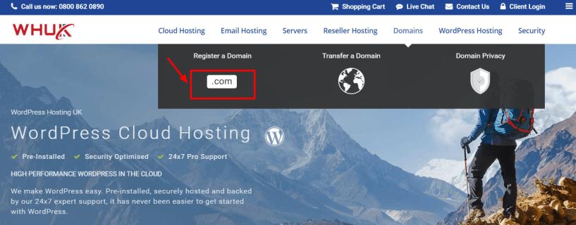 WEBHOSTING UK Discount Code - registration