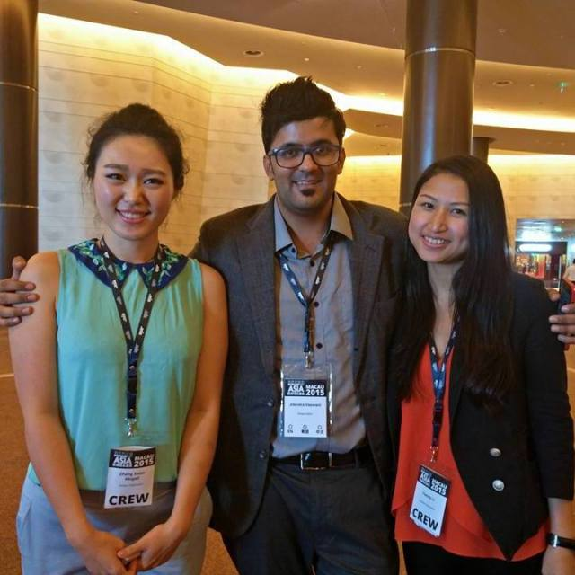 With Yannis Li and Xiao Chan dotasia team